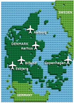 Map: Denmark