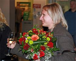 Image: Latvian resident Gita Neilande became Riga International's three millionth passenger