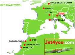 Map: Jet 4 You destinations