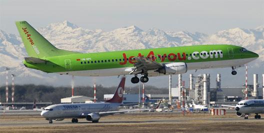 Image: Jet 4 you plane taking off