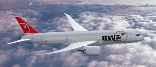 Image: NWA Plane in the sky