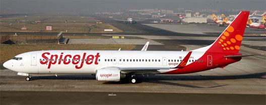 Image: Spice jet plane