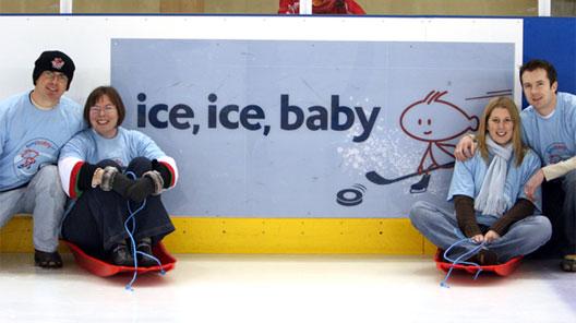 Image: bmibaby sponsors the Cardiff Devils ice hockey team