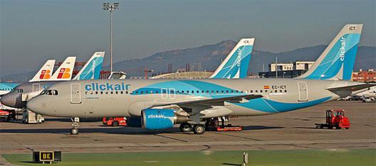 Image: Clickair plane at Barcelona