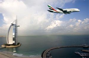 Image: Emirates flying high