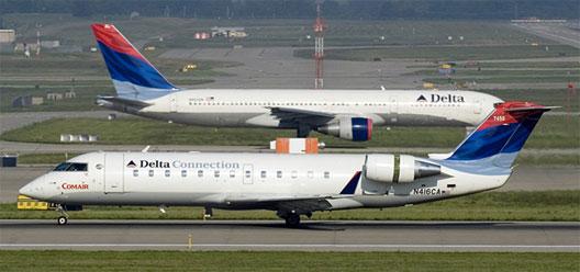 Image: Delta planes on Cincinnati/Northern Kentucky International Airport