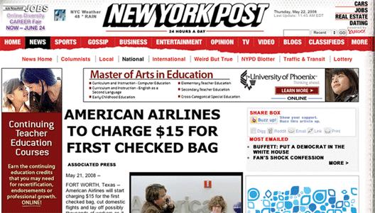 Image: New York Post Headline