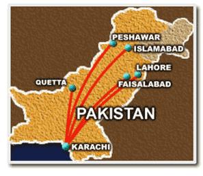 Map: Pakistan