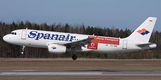 Image: Spanair aircraft taking off