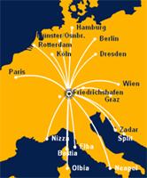 Map: Graz routes