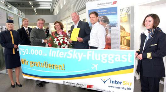 Image: Intersky celebrate 750,000 pax