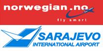 Logo: Norwegian & Sarajevo Airport
