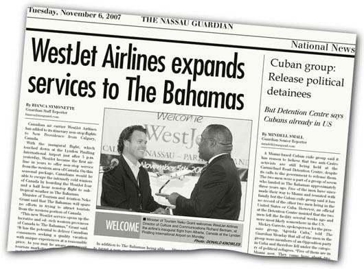 Image: WestJet Airlines