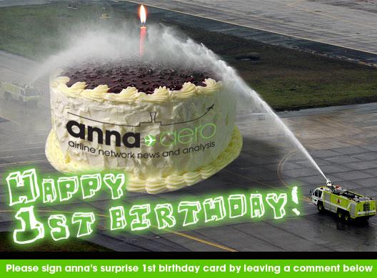 Image: anna.aero 1st Birthday cake