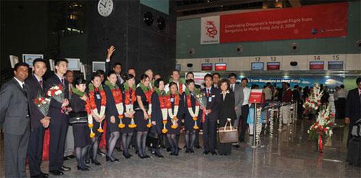 Image: Hong Kong – Bangalore new route ceremony
