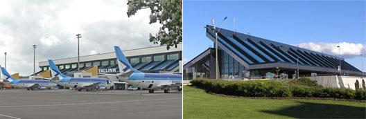 Image: Estonia Air airplanes at Tallinn Airport