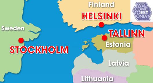 Map: Estonia & Surrounding Countries