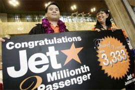Image: Jetstar celebrate landmark.