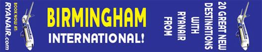 Image: Ryanair BHX banner