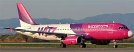 Image: Wizzair plane on runway