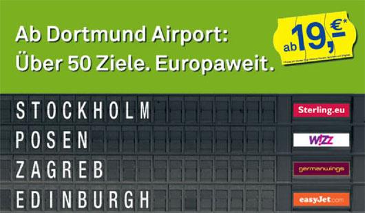 Image: Dortmund airport advertising
