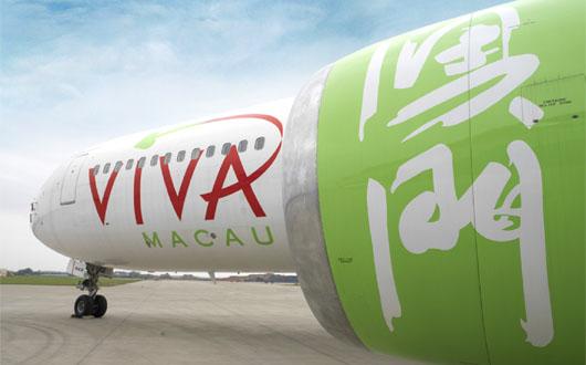 Image: VIVA Macau aeroplane sporting full livery
