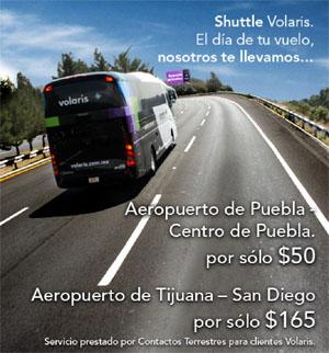 Voliaris shuttle adverstisment