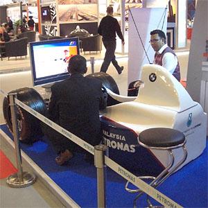 Image: Malaysia Airports racing simulator