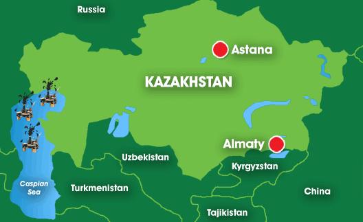 Map: Kazakhstan