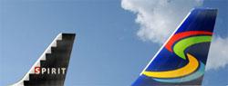 Image: Spirit branding on airline tail