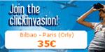 Image: Clickair clickinvasion advertisement for Bilbao - Paris route