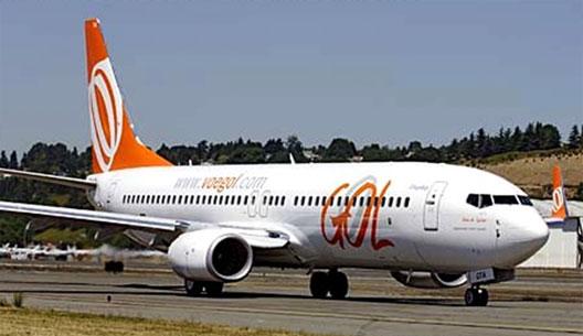 Image: Gol aeroplane on runway