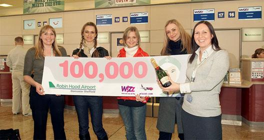 Image: Celebrating 100,000 passengers
