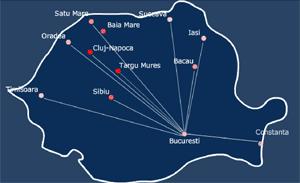 Map: Romania
