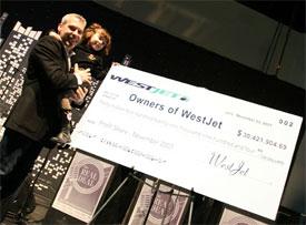 Image: Westjet profit share cheque