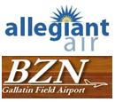 Logo: Allegiant BZN Airport