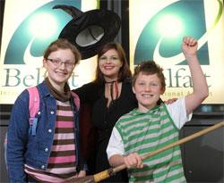 Image: Belfast International Airport - passengers going to Milan for their half term school break
