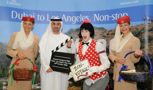 Image: Dubai to Los Angeles route launch