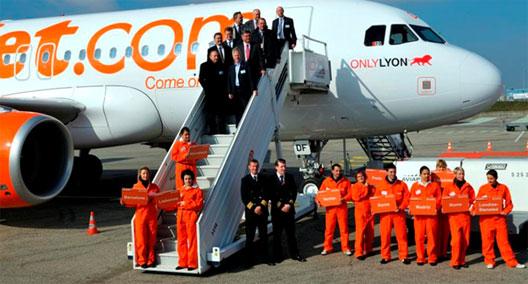 Image: easyJet at new base in Lyon