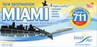 Image: Insel Air ad for new destination - Miami