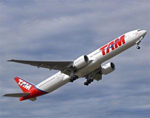 Image: TAM airline ascending