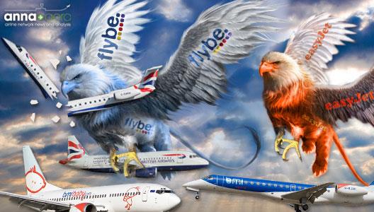 Image: Flybe & easyJet monsters