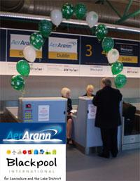 Image: First passenger checks in for AerArann's Blackpool to Dublin service