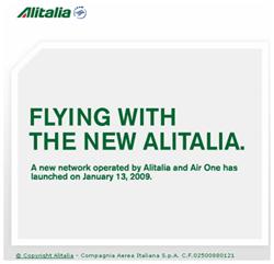 Image: Alitalia Ad