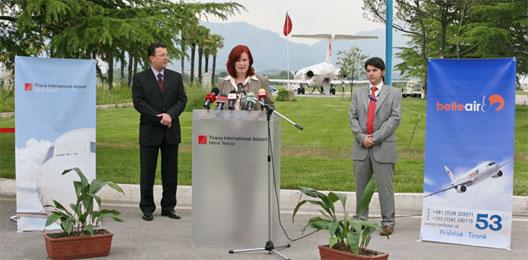 Image: Pristina route launch speech by Andrea Gebbeken