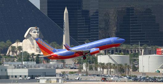 Image: Southwest plane taking off at Las Vegas