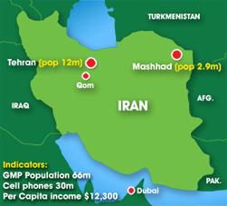 Map: Iran