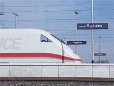 Image: German High Speed Rail Network