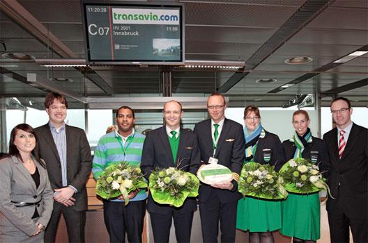 Image: Transavia.com Innsbruck service