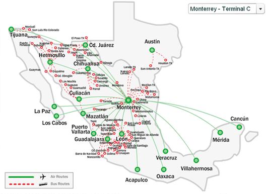 vivaaerobus optimises Monterrey network Texas routes developing